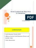Good Laboratory Practice in Chemistry