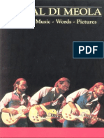 132055760 Book Al Di Meola Music Words Pictures Guitar Bass