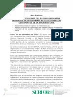 NUEVE INSTITUCIONES DEL ESTADO PRESENTAN PROPUESTA DE REGLAMENTO DE LA LEY FORESTAL