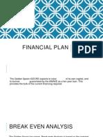 Financial Plan Madhu