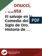 El salvaje en la Comedia del Siglo de Oro. Historia de un tema de Lope a Calderón / Fausta Antonucci