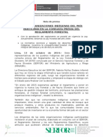 SIETE ORGANIZACIONES INDÍGENAS DEL PAÍS PARTICIPAN EN LA CONSULTA PREVIA DEL RLFFS