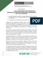 NUEVE PUEBLOS INDÍGENAS PARTICIPARON EN LAMAS EN LA CONSULTA PREVIA DEL REGLAMENTO DE LA LEY FORESTAL