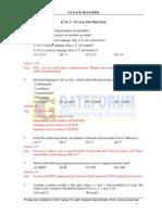 CS GATE 2012 Paper Solution