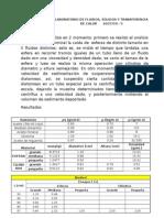 Informe de Sedimentación