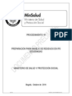 Procedimiento No 19_ Manejo de Residuos en IPS Designadas