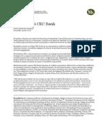 Cec Bank Rebranding Comunicat de Presa