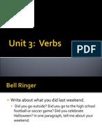 verbs unit 3