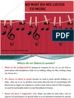 When and why do we listen to music
