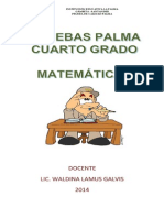 PRUEBAS PALMA 4° MATEMATICAS 2014