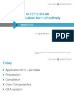 Hymans Robertson - How to Complete an Application Form Effectively