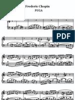 Chopin, Fuga in a-minor