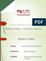 Trabajo Final – Entidad Publica