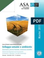 Brochure Master Sviluppo Umano e Ambiente ASA 2011 Web