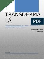 Iontoforeza transdermală