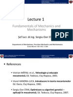 Lecture 1 Fundamentals of Mechanics and Mechanisms