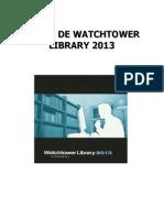 Curso de Watchtower Library 2013