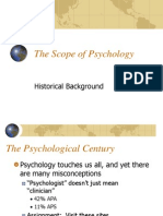 The Scope and History of Psychology - Ch. 1 Fields of Application