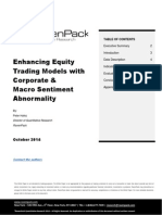 Enhancing Equity Trading Models Corporate Macro Sentiment Abnormality