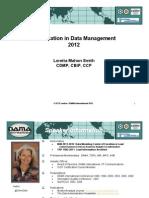 DAMA - Certification in Datamanagement