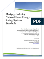 RESNET Mortgage Industry National HERS Standards