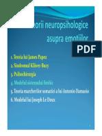 Teorii Neuropsihologice Asupra Emotiilor
