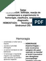 Hemoragie Hemostaza Rom