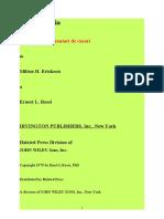 Erickson - Hypnotherapy -An Exploratory Casebook Romanian Version