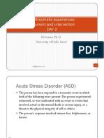 Posttraumatic Experiences