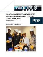 Black Construction Workers Overcome Obstacles To Land Army Base Jobs By Ashley Chambers  May, 30 2014