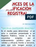 7. Alcances de La Calificación Registral