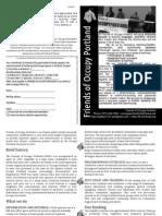 Friends of Occupy Portland brochure (version Nov. 4, 2014 black and white)