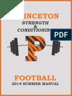 Princeton Football SUMMER MANUAL 2014