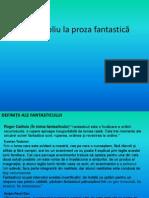 Portofoliu La Proza Fantastică