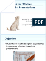 guidelines for creating effective presentations