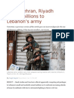 Rivals Tehran, Riyadh Pledge Billions to Lebanon's Army