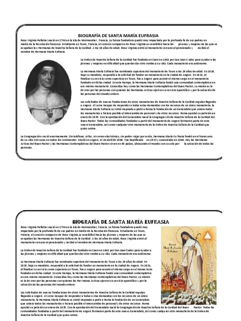 Biografia de Santa Maria Eufrasia
