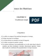 Resistance Des Materiaux - Chapitre 6 Cisaillement