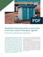 SRP U-ACT Factsheet VIP Latrine Construction Kampala