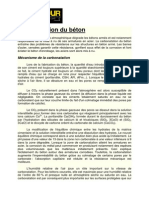 Carbonatation Du Béton