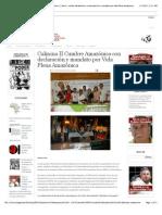 Declaración y mandato por la Vida Plena Amazonica