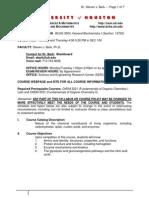 BARK BCHS3304 Syllabus Fall 2014