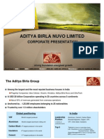 Aditya Birla Nuvo[Nuvo Corporate Presentation May09] 2