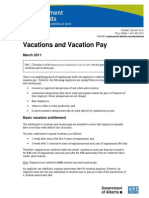 Alberta Vacations and Vacation Pay