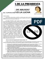 Carta de La Presidenta Agosto 2014