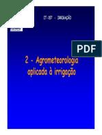 Agrometeorologia IT 157 2014 2