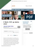 10 Filósofos VIVOS Que Deberías Conocer _ Blog de Filosofía - Filosóficamente