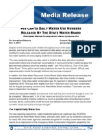 Per Capita Daily Water Use Numbers Released by the State Water Board