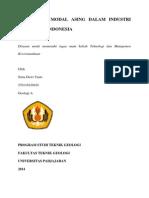 penanaman modal asing industri mineral di indonesia