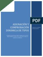 ASIGNACIÓN Y COMPROBACIÓN DINÁMICA DE TIPOS